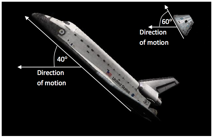 space shuttle re entry angle - photo #4