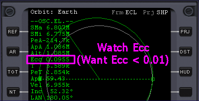 Ecc on the Orbit MFD