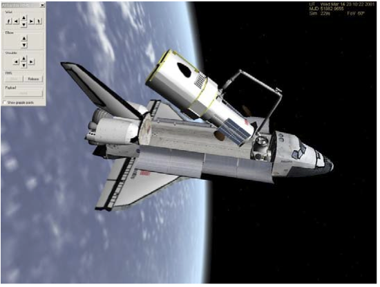Space Shuttle with HST
